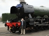 Working hard in the UK with the Flying Scotsman