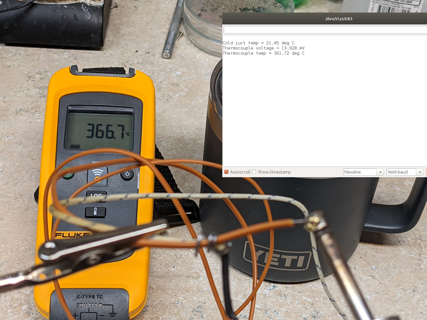 Measuring the soldering iron
