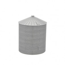 "18' HO-Scale Galvanized Steel Grain Bin Kit (2.66"" Corrugation)"