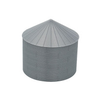 "24' HO-Scale Galvanized Steel Grain Bin Kit (2.66"" Corrugation)"