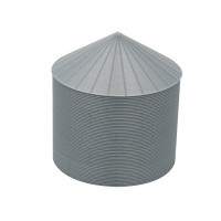 "24' HO-Scale Galvanized Steel Grain Bin Kit (4"" Corrugation)"