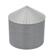 "36' HO-Scale Galvanized Steel Grain Bin Kit (2.66"" Corrugation)"