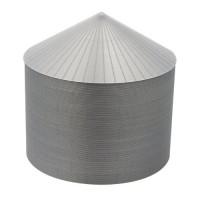 """48' HO-Scale Galvanized Steel Grain Bin Kit (4"""" Corrugation)"""