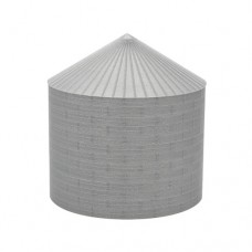 "48' N-Scale Galvanized Steel Grain Bin Kit (2.66"" Corrugation)"