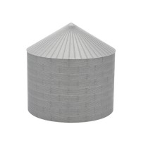 """48' N-Scale Galvanized Steel Grain Bin Kit (4"""" Corrugation)"""