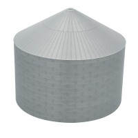 "75' N-Scale Galvanized Steel Grain Bin Kit (2.66"" Corrugation)"