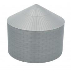 """75' N-Scale Galvanized Steel Grain Bin Kit (2.66"""" Corrugation)"""