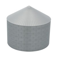 "75' N-Scale Galvanized Steel Grain Bin Kit (4"" Corrugation)"