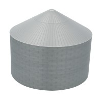 "90' N-Scale Galvanized Steel Grain Bin Kit (2.66"" Corrugation)"