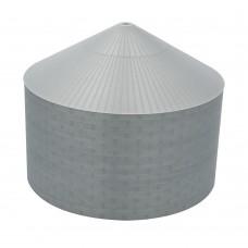 """90' N-Scale Galvanized Steel Grain Bin Kit (2.66"""" Corrugation)"""